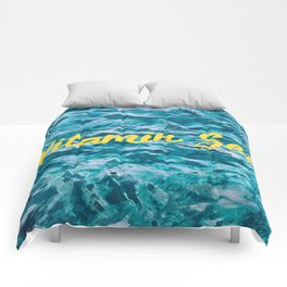 Vitamin sea summer weather texture design Comforters