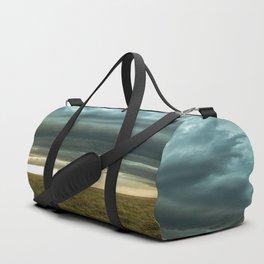 Filling the Void - Layered Storm in Western Nebraska Duffle Bag
