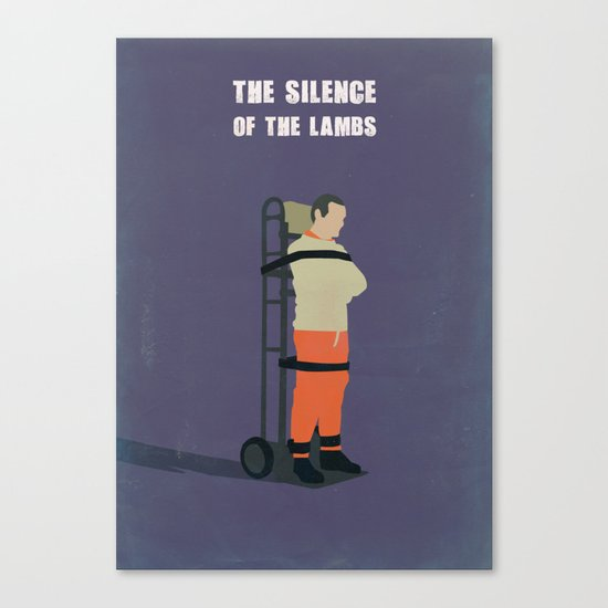 The Silence Of The Lambs Minimalist Canvas Print