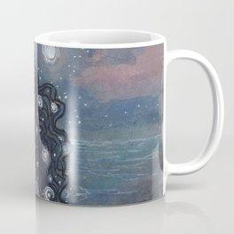 Evening Glow Mermaid and Firefly Squid Coffee Mug