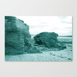 Shaped By The Sea - Turquoise Palette Canvas Print