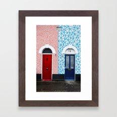 Red vs Blue 02 Framed Art Print