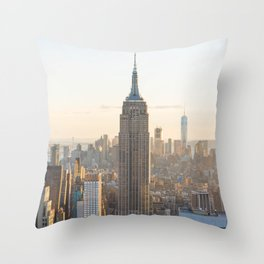 Golden New York Throw Pillow