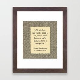 Oh, Darling Framed Art Print