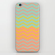 Colorful Chevron on Peach and Mint iPhone & iPod Skin