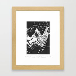 -We swallowed the sky whole; Framed Art Print