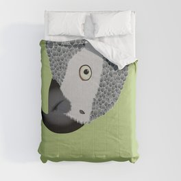 African Grey Parrot [ON SPRING GREEN] Comforters