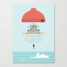 The Life Aquatic with Steve Zissou - minimal poster Canvas Print
