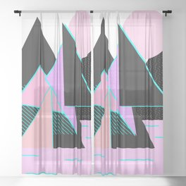 Hello Mountains - Moonlit Adventures Sheer Curtain