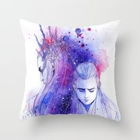 legolas Throw Pillows featuring Thranduil and Legolas by Kinko-White