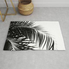 Palm Leaves Black & White Vibes #3 #tropical #decor #art #society6 Rug