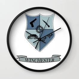 Winchester Coat of Arms Wall Clock