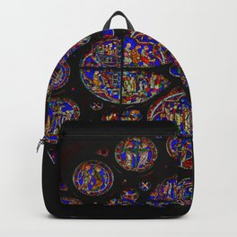 Stained Glass Rose Window 1 Backpack