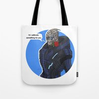 garrus Tote Bags featuring Garrus by Pulvis