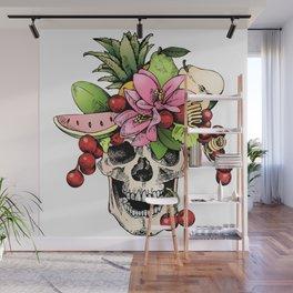 Floral Skull Wall Mural