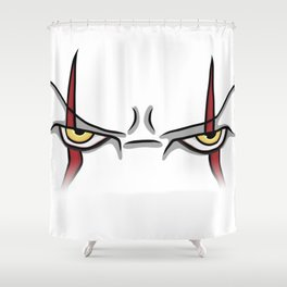 IT Bill Skarsgård Eyes Shower Curtain
