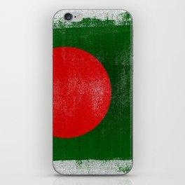 Bangladesh Distressed Halftone Denim Flag iPhone Skin