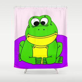 Wide-Eyed Toad Shower Curtain