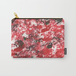 Red Camo Pattern Print Acrylic Artwork Black Splatter Painting Carry-All Pouch
