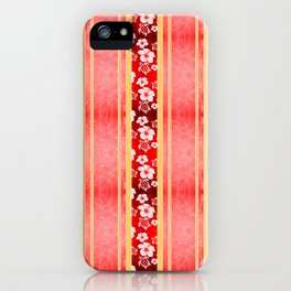 Red Hibiscus Hawaiian Honu iPhone Case