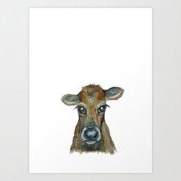 Little Calf Art Print