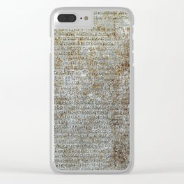 Metal plate with old-slavonic text Clear iPhone Case