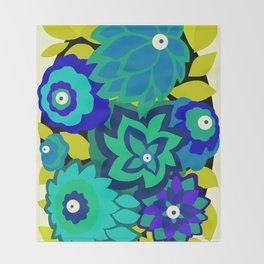 CAMBRIA, ART DECO FLORALS: SEASIDE CHIC Throw Blanket