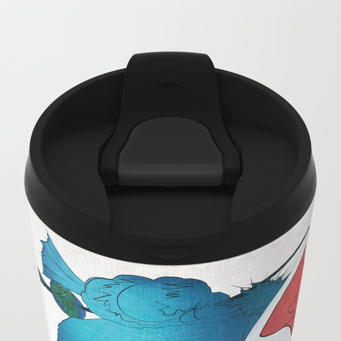 Fox Mask Metal Travel Mug