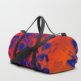 Vector blue background in red stars. For registration of paper or banners. Duffle Bag