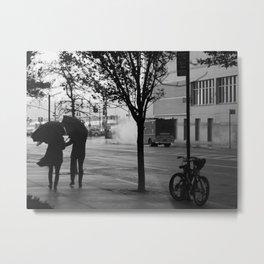 Stormy Couple Metal Print