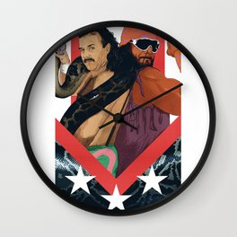 "Macho Man Randy Savage vs Jake ""The Snake"" Roberts Wall Clock"