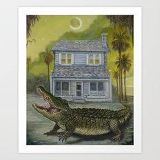 The Barker House Art Print