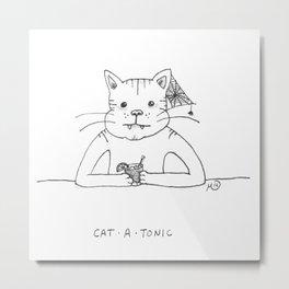 CAT • A • TONIC Metal Print