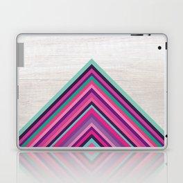 Wood and Bright Stripes, Chevron - Geometric Design Laptop & iPad Skin