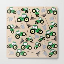 Tractor Truck Pattern Farm Equipment Metal Print