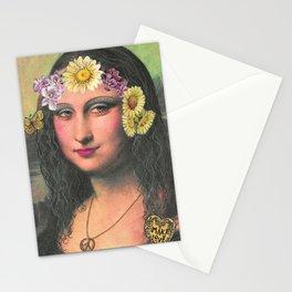 Hippie Gioconda Stationery Cards