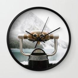 Lake Louise #landscape #society6 Wall Clock