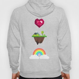 Somewhere Over The Rainbow pattern Hoody