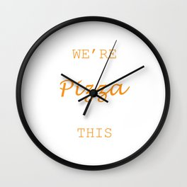 We're Getting Pizza After This Food Shirt For Snack Lovers Pepperoni Mushroom Meatballs Cheese Wall Clock