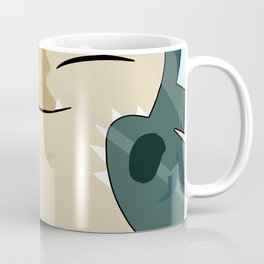 Squished Snorlax Behind Glass Coffee Mug