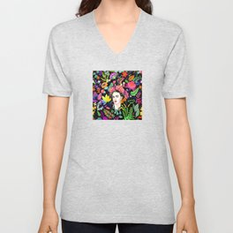 Frida in Bloom Unisex V-Neck