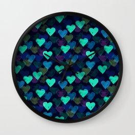 Glowing Hearts Wall Clock