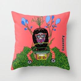 Lily time machine Throw Pillow