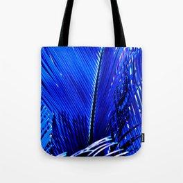 Sapphire Palm Tote Bag