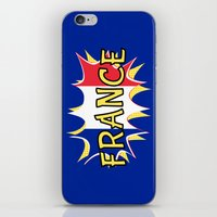 france iPhone & iPod Skins featuring France by mailboxdisco