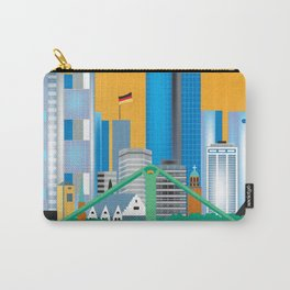 Frankfurt, Germany - Skyline Illustration by Loose Petals Carry-All Pouch
