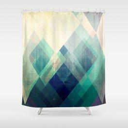 Mountains print, Abstract print, geometric wall art, abstract mountain, minimalist art, modern art, Shower Curtain