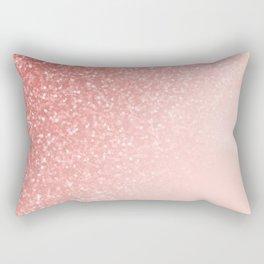 She Sparkles Deep Rose Gold Pastel Pink Luxe Geometric Rectangular Pillow
