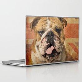English Bulldog, Great Britain flag ! Laptop & iPad Skin