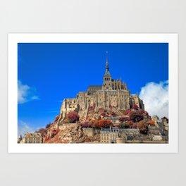 Autumn Shades of Mont Saint-Michel Art Print